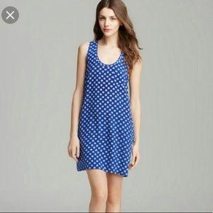 XS / Joie silk blue white anchor racerback dress